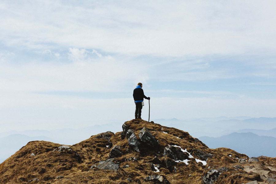 Der einsame Wanderer, Mardi Himal Trek, Nepal