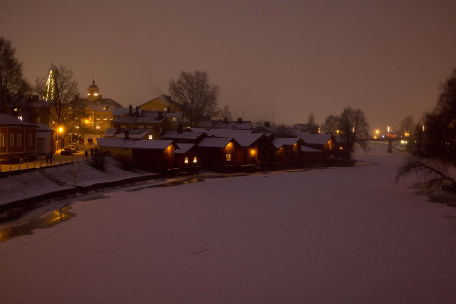 Seen from the Porvoonjoki, Porvoo, Finnland
