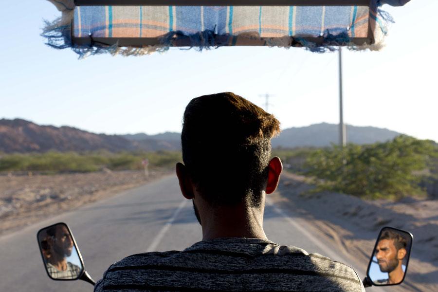 TukTuk fahren, Hormuz, Iran