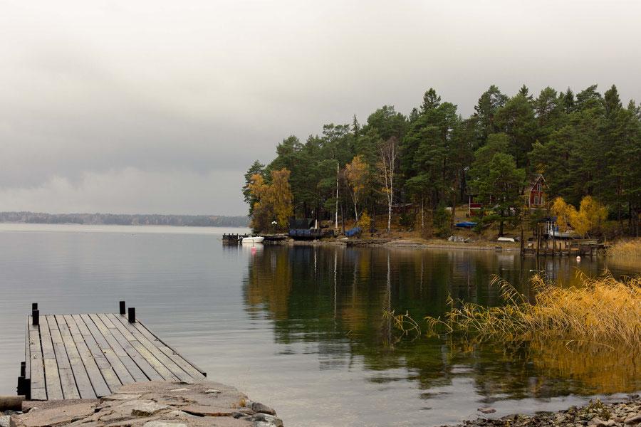 Auf einer Insel Leben, ein Paradies auf Erden, Svartsö, Schweden