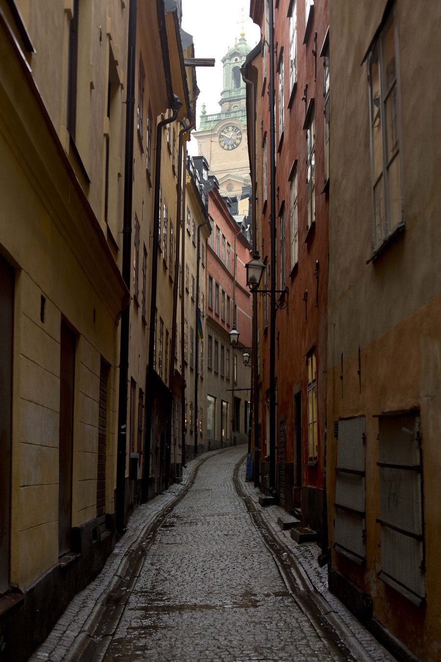 Street in the old town of Stockholm, Sweden