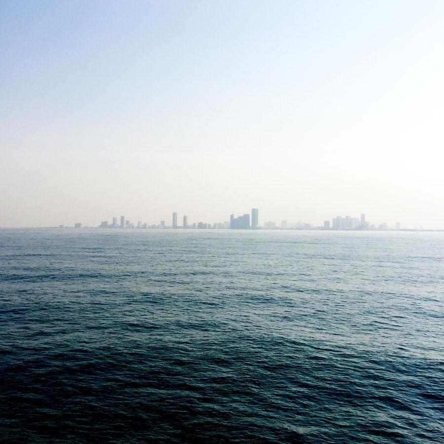 Blick vom Persischen Golf,  Vereinigte Arabische Emirate