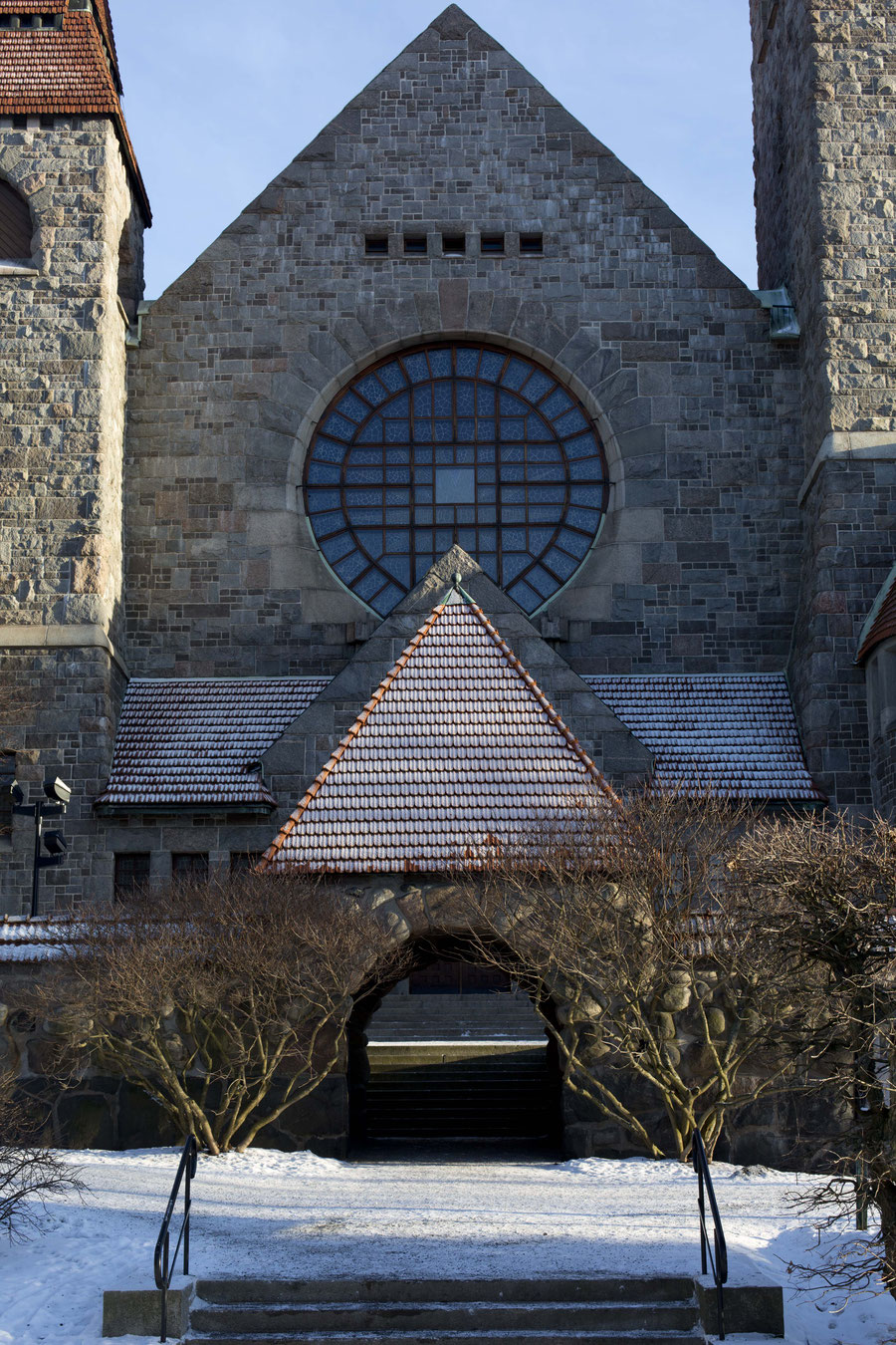 The western facade of the cathedral, Tampere, Finland