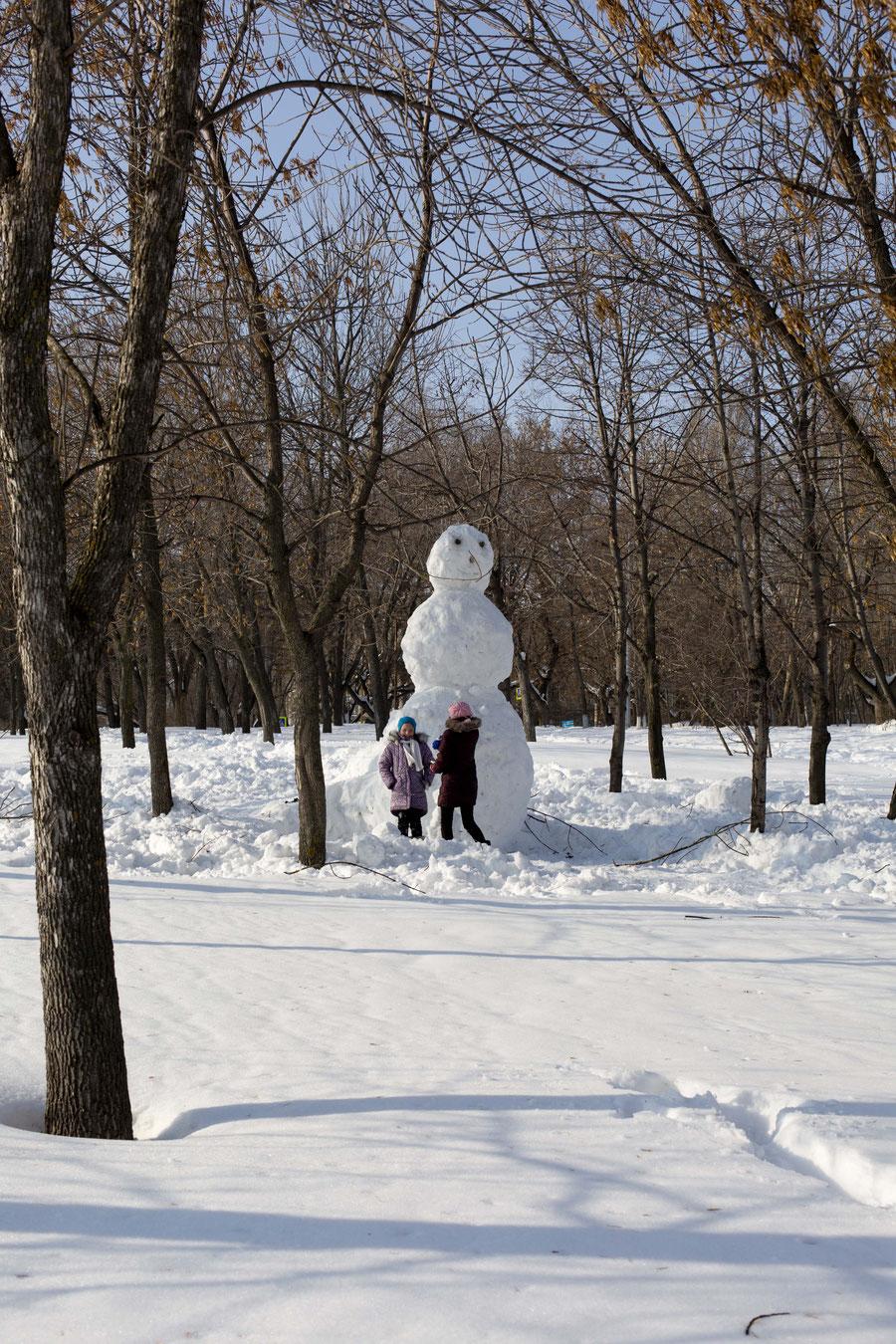 Der größte Schneemann, Samara, Russland