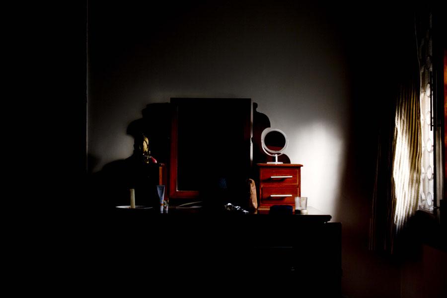 """Die Kommode in """"meinem"""" Zimmer in Delhi, Indien"""