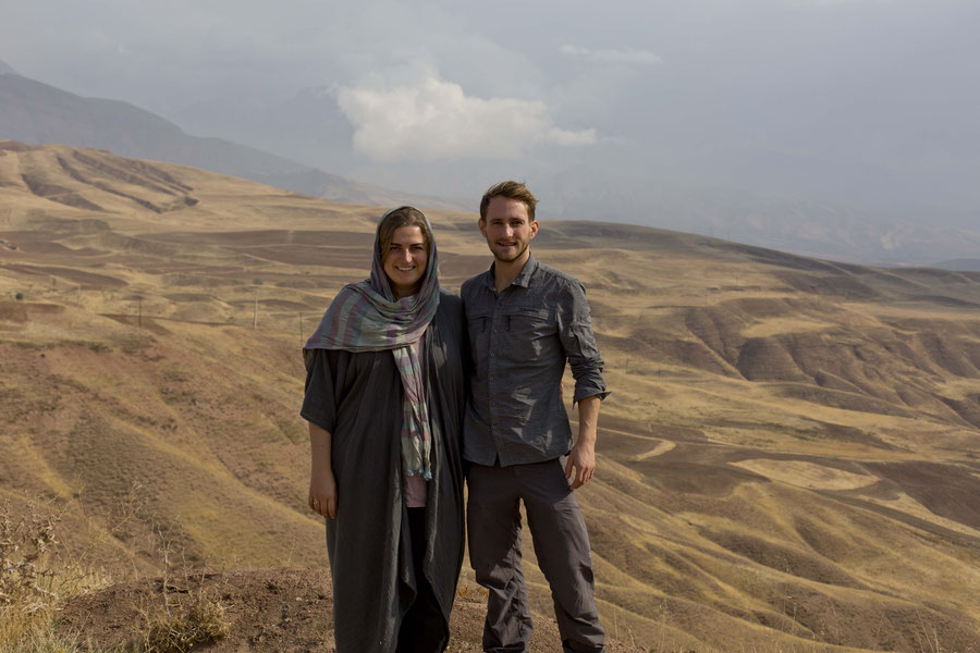 J. und ich, Alamut, Qazvin, Iran