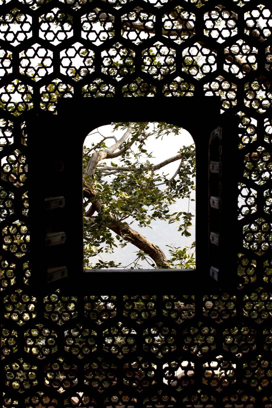 Des einen Schloss, ist des anderen Gefängnis, Jaipur, Indien
