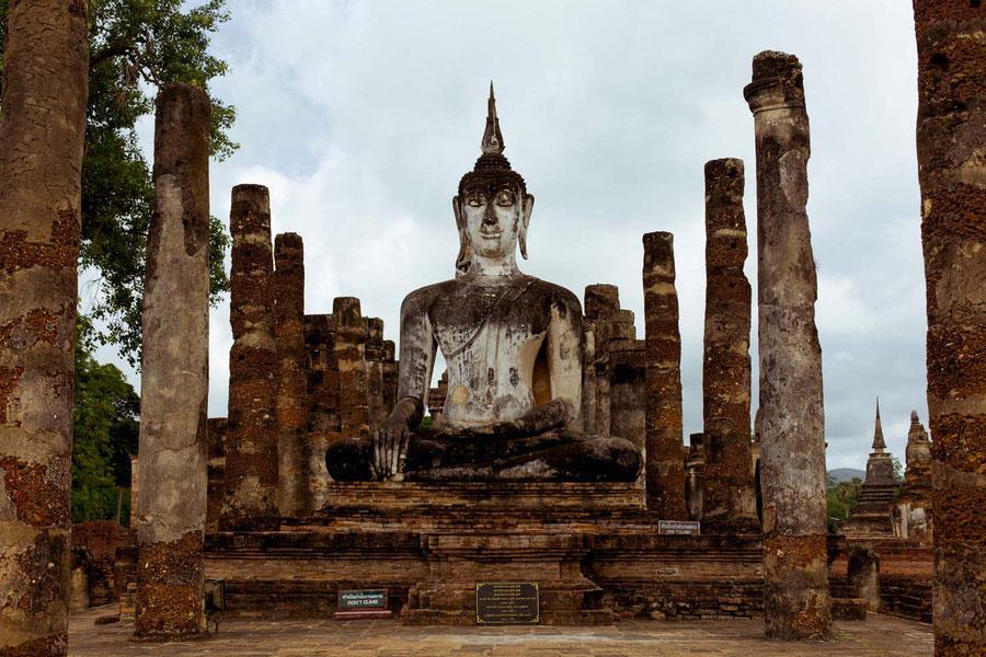 Hier gab es mal ein Dach, Sukhothai, Thailand