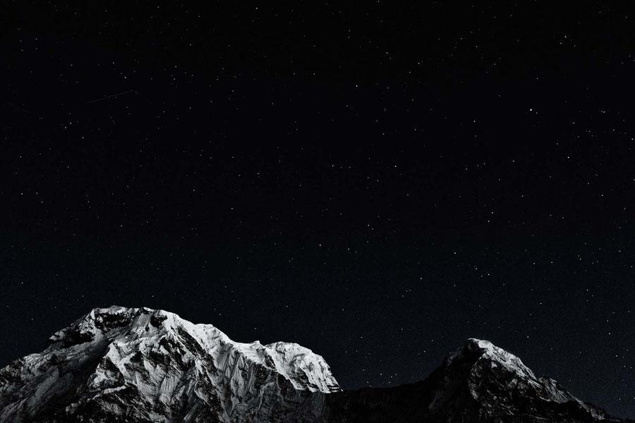 Der Nachthimmel aus unmittelbarer Nähe, Mardi Himal Trek, Nepal