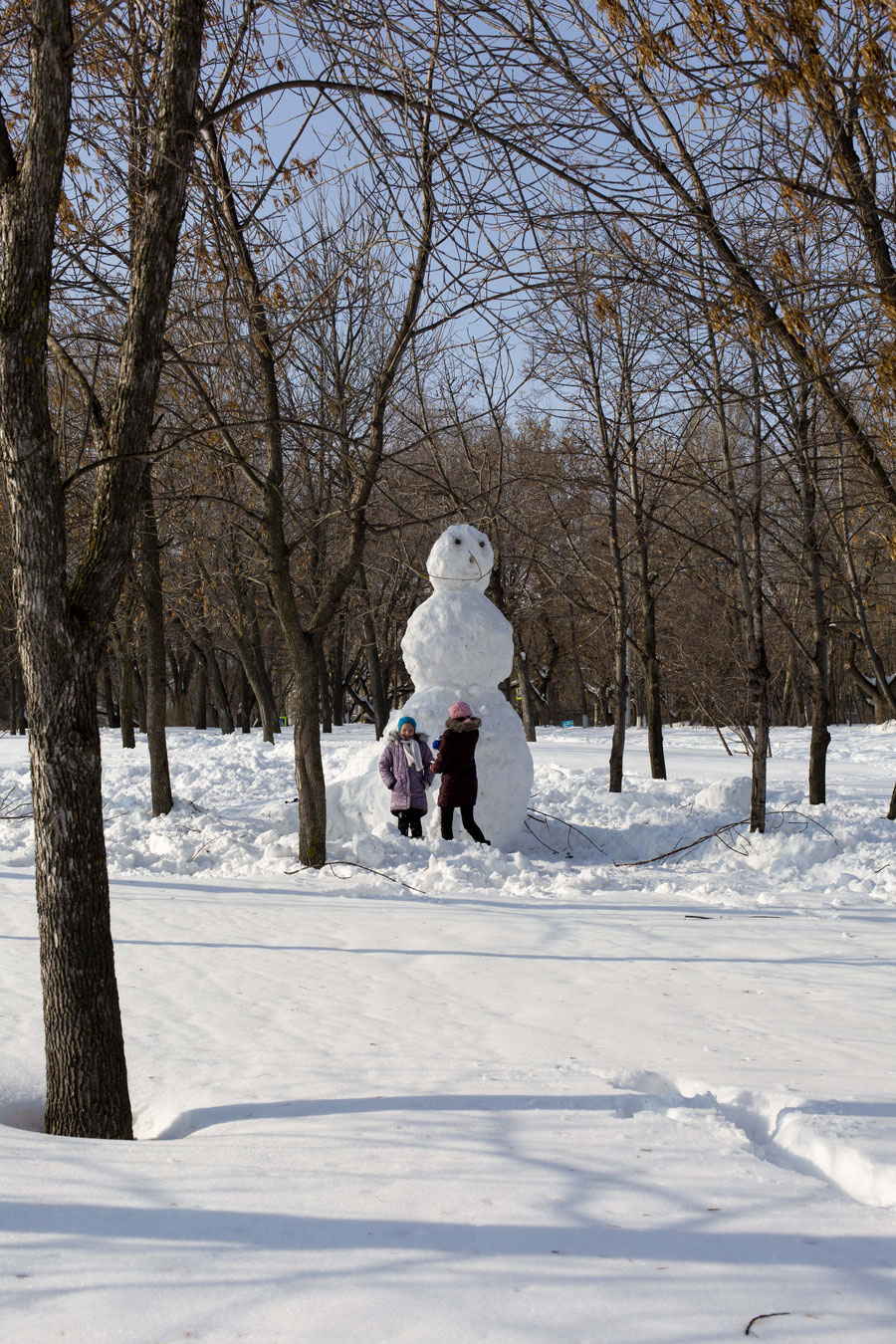 The biggest snowman, Samara, Russia