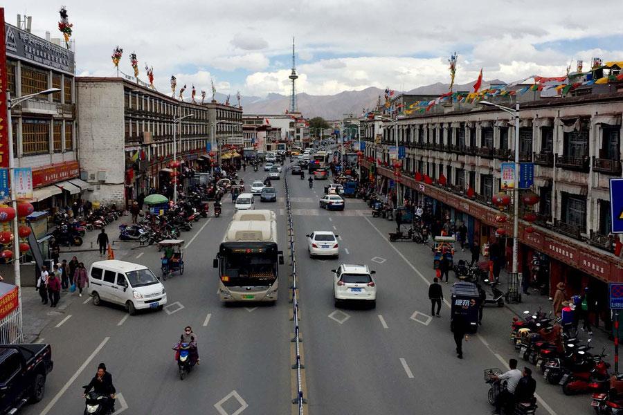 Das zentrum Lhasa's und der Beginn meiner Reise, Tibet, China