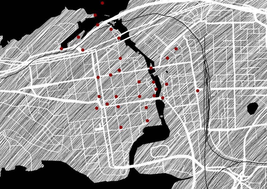 Stadtkarte Tampere, Finnland