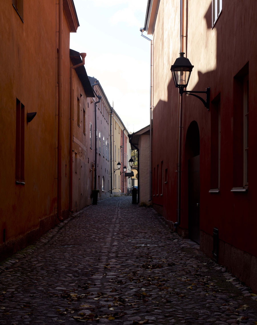 old street in Turku, Finland
