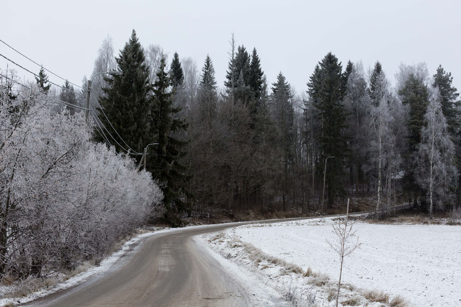 One of those little backcountry roads in Finland