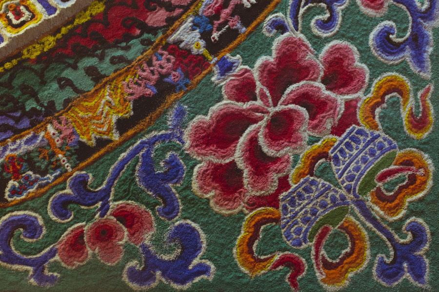 Sandmandala im Kloster Sera, Lhasa, Tibet, China