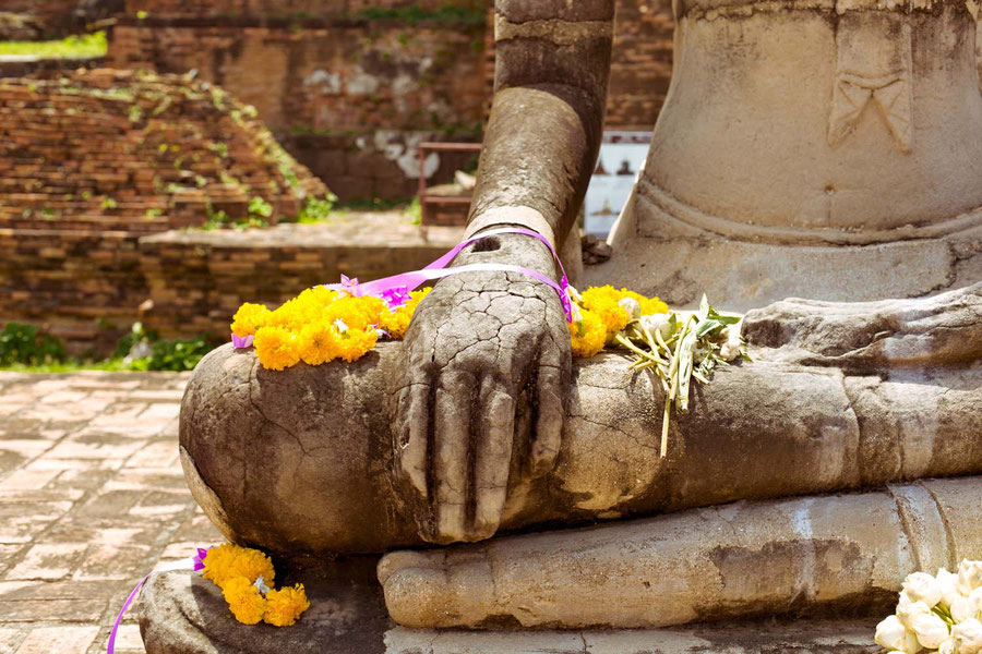 Another Buddha in its sunday best, Ayutthaya, Thailand