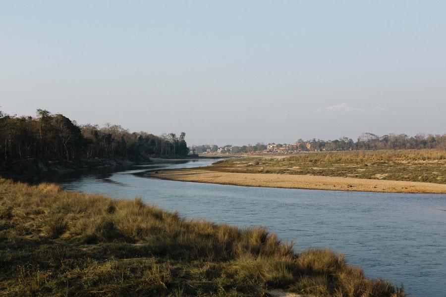 Sauraha, von der anderen Seite des Ufers, Sauraha, Nepal