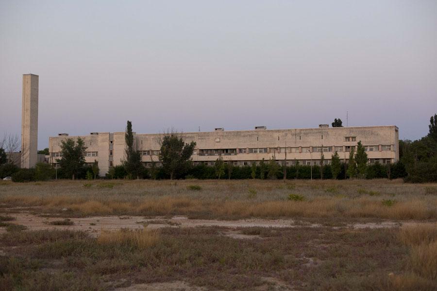 Altes Krankenhaus und unser Schulgebäude, Jewpatoria, Krim