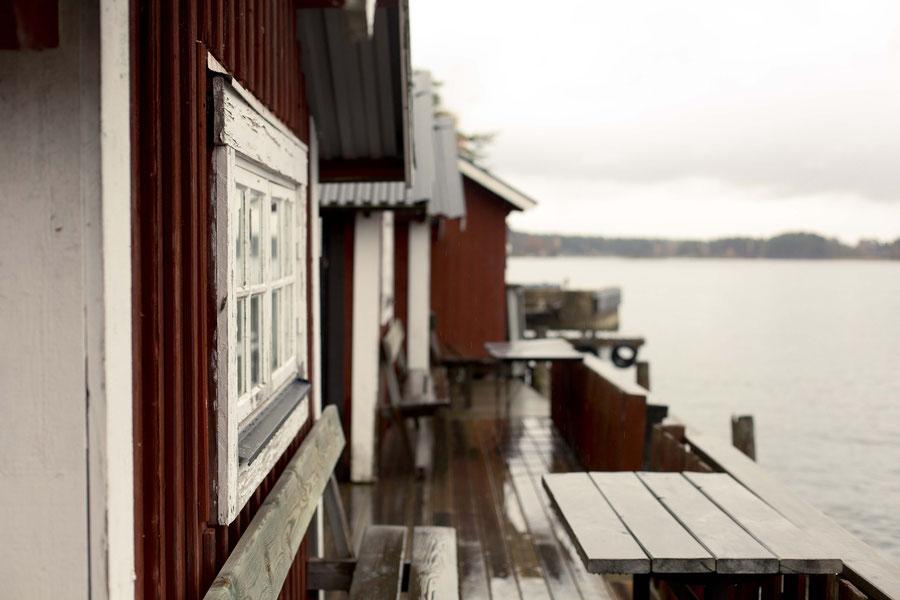 Badehäuschen auf Svartsö, Schweden