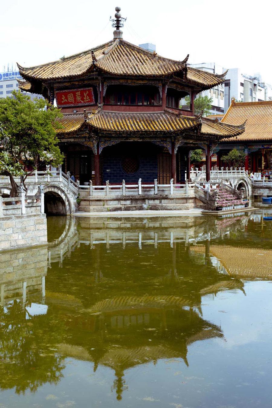 Der lange vernachlässigte Tempel, Kunming, China