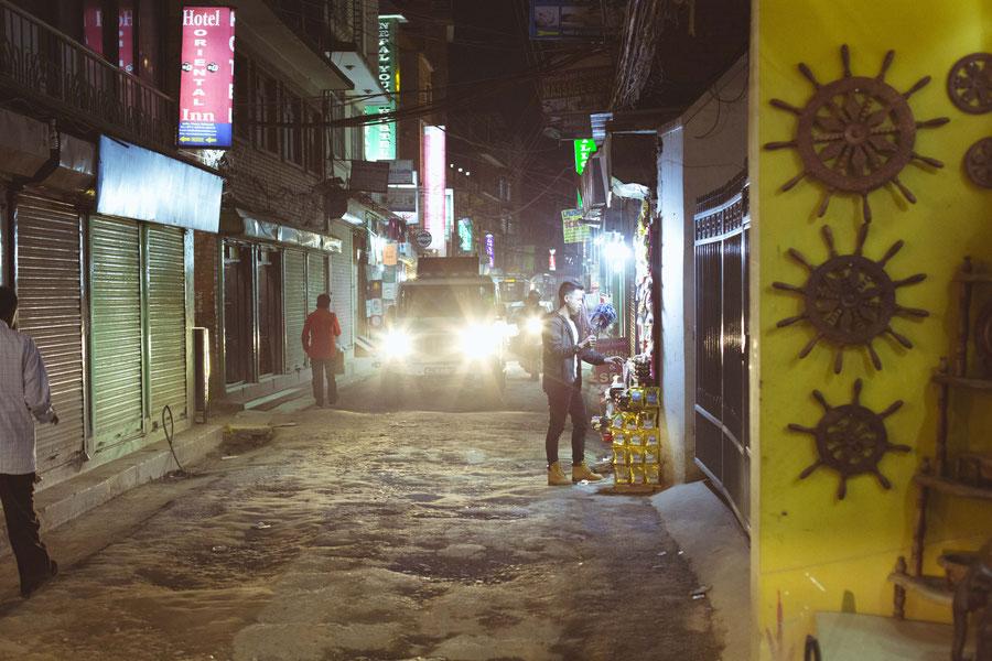 Thamels nächtliche Straßen, Kathmandu, Nepal