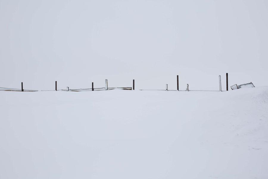 Schnee, soweit das Auge reicht, Samara, Russland