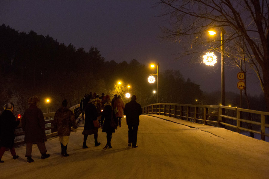 Lichterprozession in Porvoo, FInland