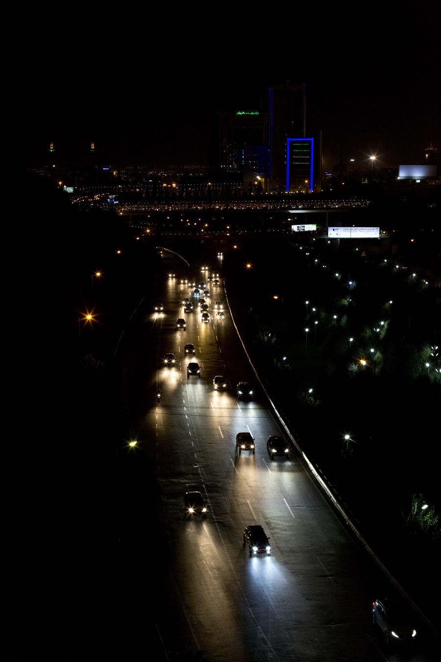 Flickering nightlights, Tehran, Iran