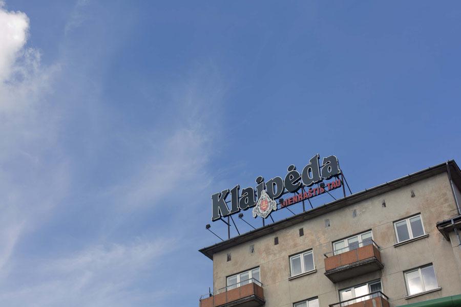 Klaipéda Werbeschild