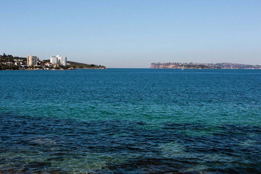 Der nördliche und südliche Kopf der Bucht von Sydney, Australien