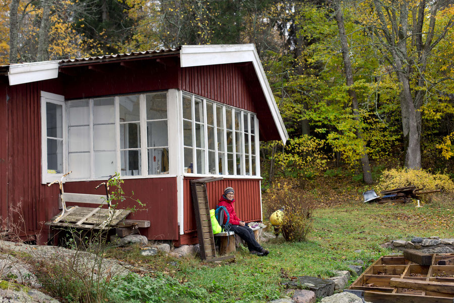 Pretty little summer house, winter garden bliss, Svartsö, Sweden