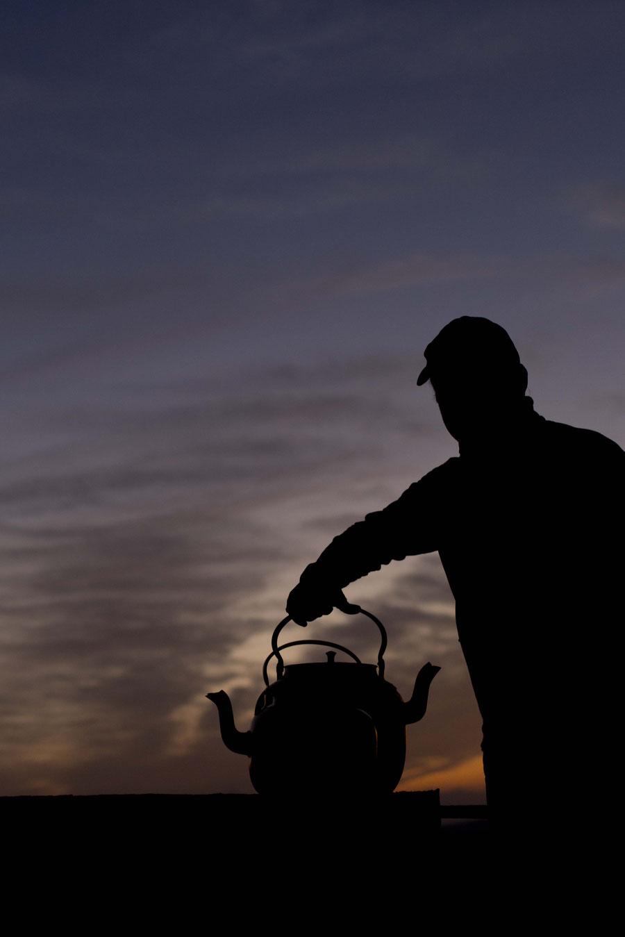 Sunset tea, Yazd, Iran