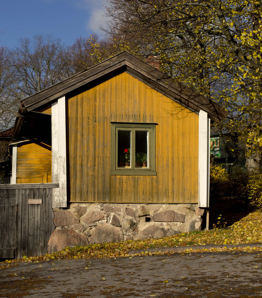 Yellow wooden house, Turku, Finland