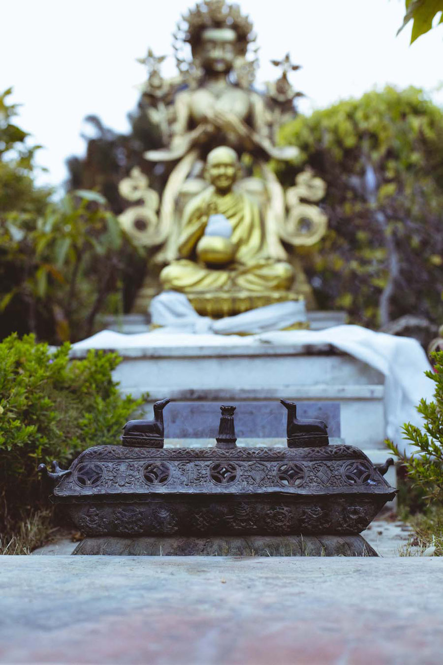 Stupa garden, Kopan Monaestery, Nepal