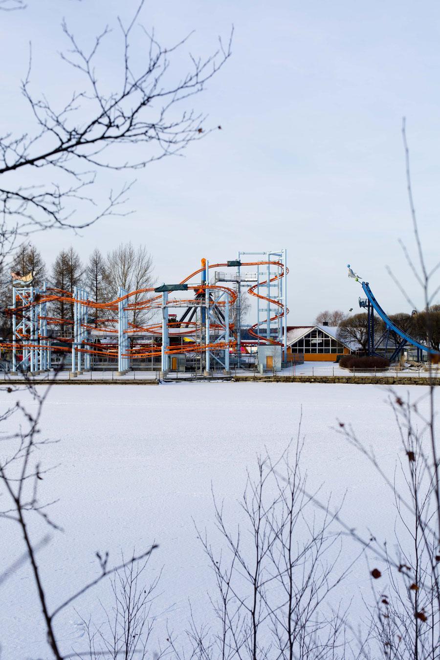 Empty amusement parc, Tampere, Finland