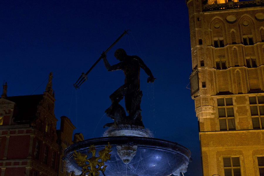 Neptunes Brunnen in Gdansk