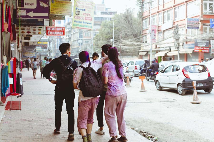 Turning from hunted, to hunter, Kathmandu, Nepal