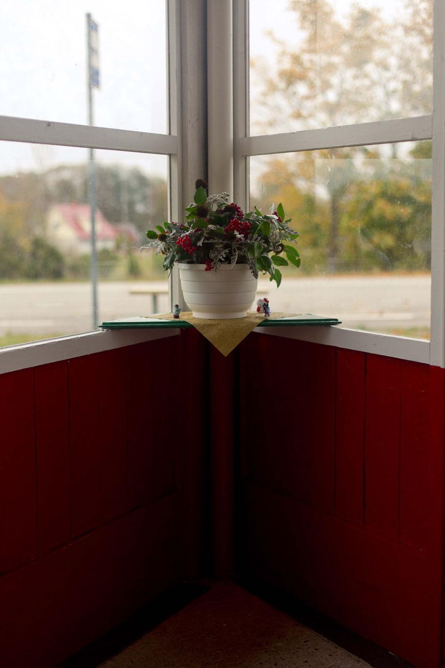 Die schönste Haltestelle Europas: Panga Panga, von Innen. Saaremaa, Estland.