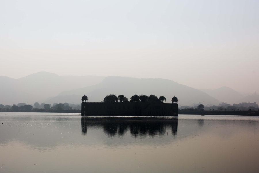 Ein Wasserschloss, Jaipur, Indien