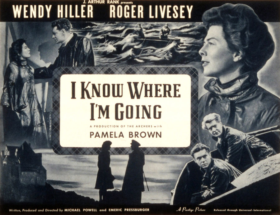 I know where I'm going, Filmposter