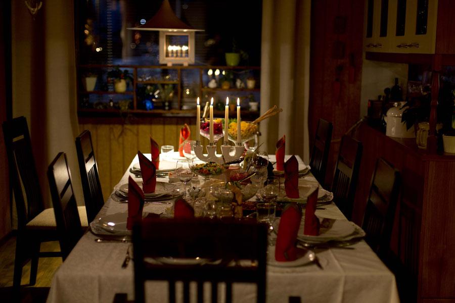 Das weihnachtliche Festmahl, Kalajoki, Finland