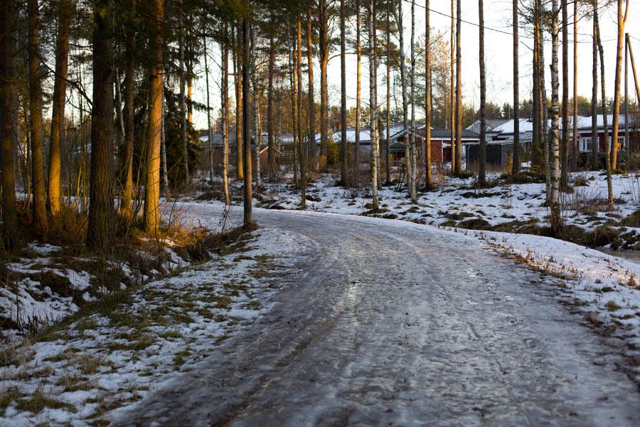5 Zentimeter Eis, Kalajoki, Finland