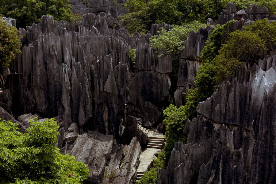 Stone forest close to Kunming, China