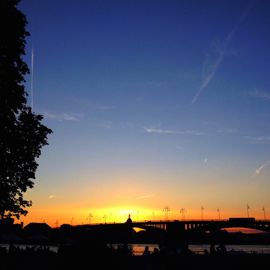 Sunset in Mainz-Kastel, my old hood