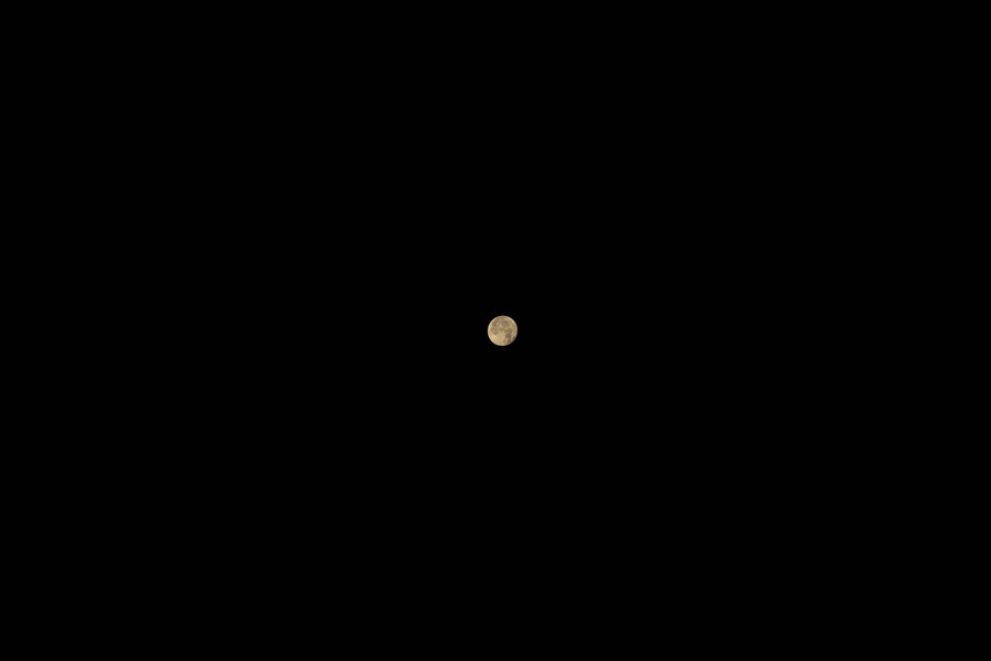 Full moon, Nasva, Saaremaa, Estonia