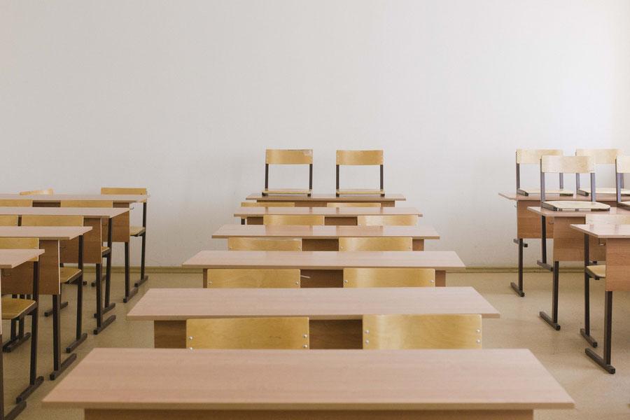 Ein Seminarraum in Samara an der Uni, Russland