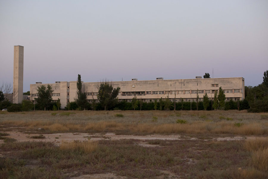 Old hospital and our current school building, Jevpatoria, Crimea