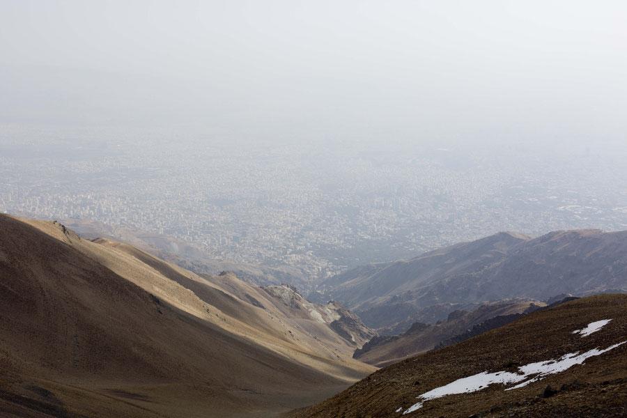 Teheran gesehen vom Tachol, Iran