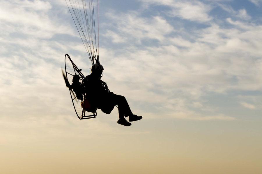 Paraglider in Yazd, Iran