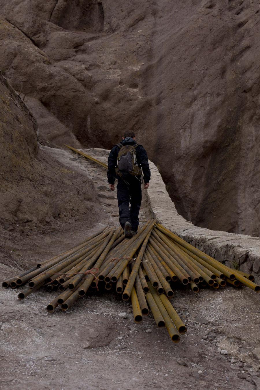 J.'s suche nach Herausforderung, Alamut, Qazvin, Iran
